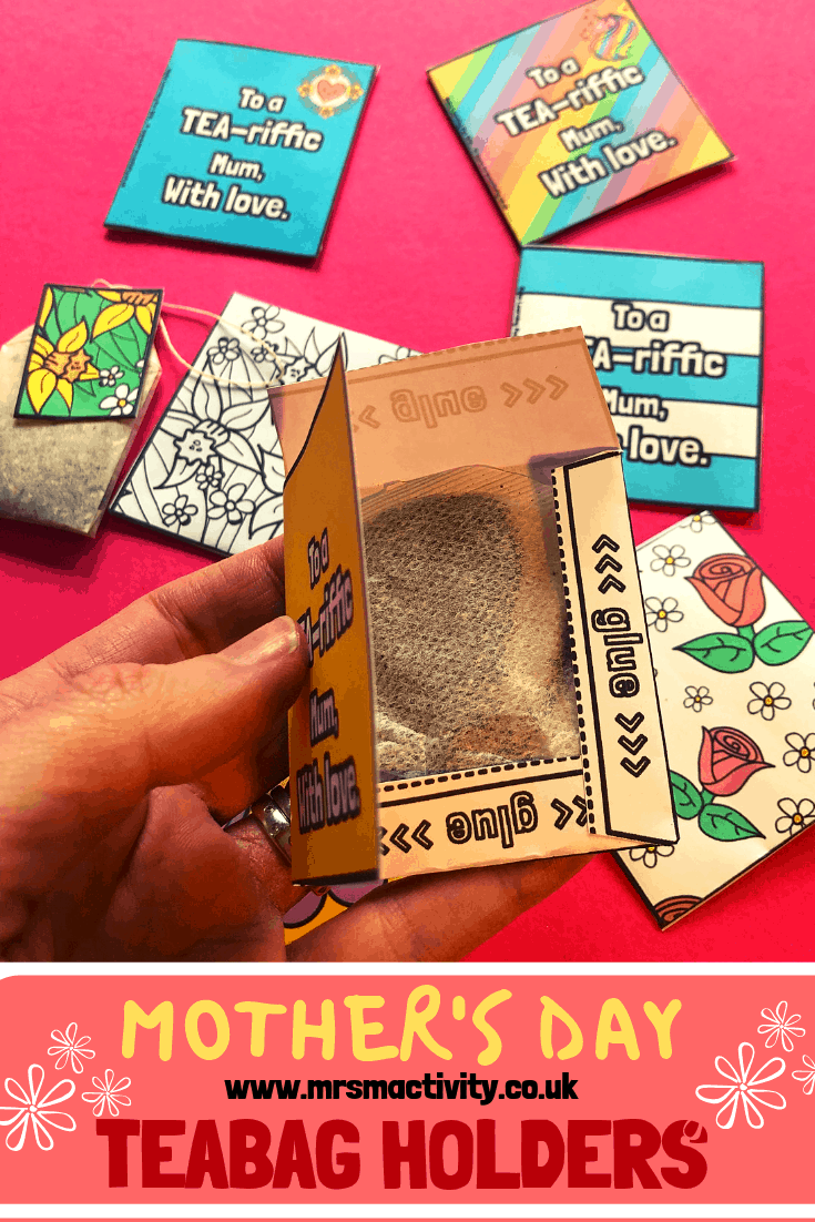 Mother's Day teabag holders