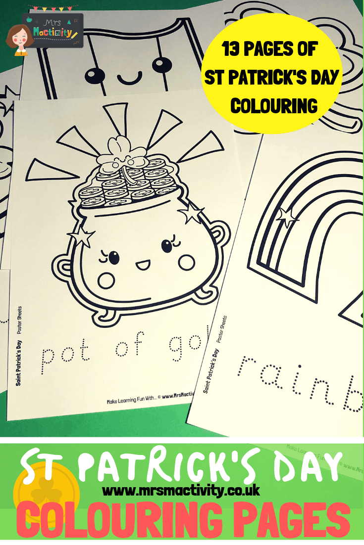 St Patrick's Day Colouring Pages