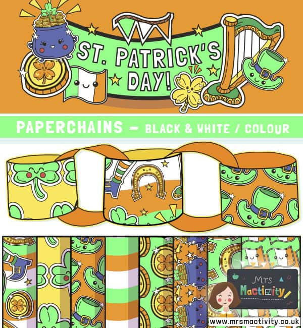 St Patrick's day paperchains