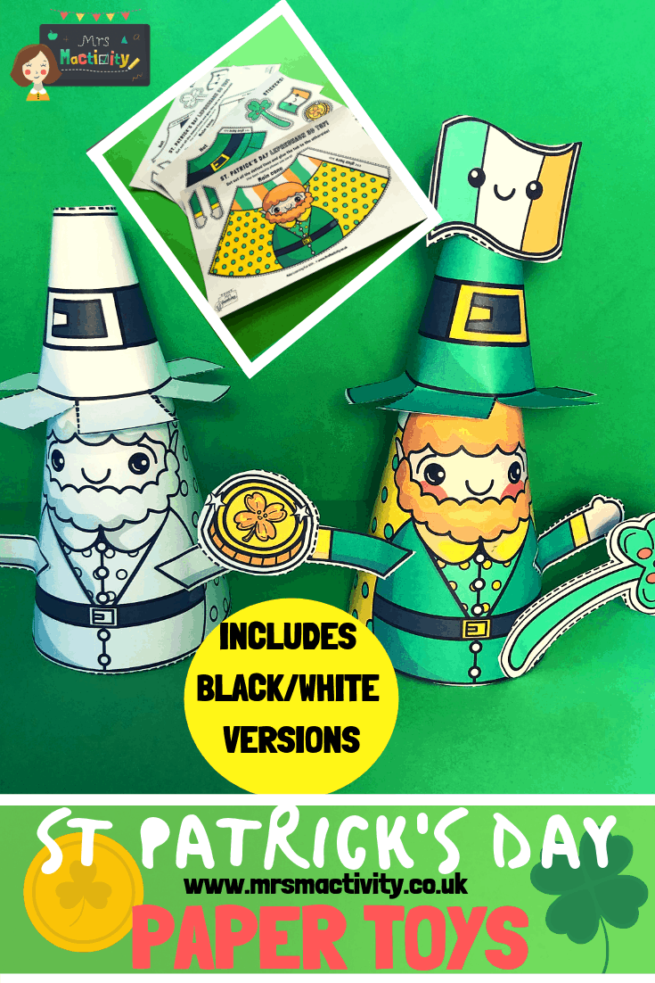 St Patrick's Day Leprechaun Paper Toy