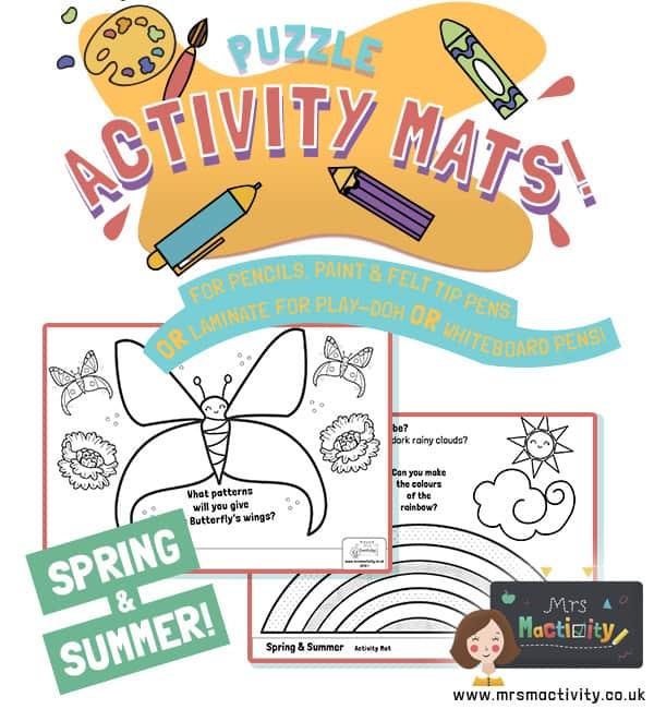 spring summer activity mats