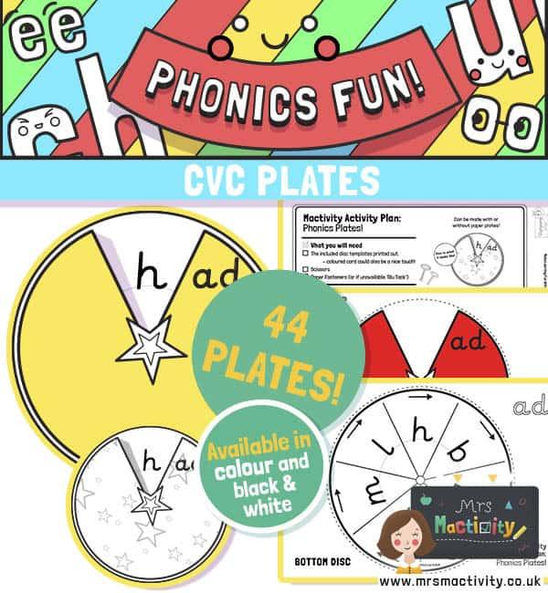 CVC word family phonics activity