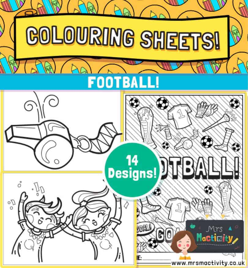 Free football colouring pages