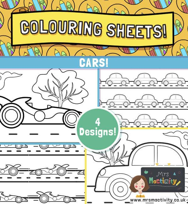 Cars Colouring Pages