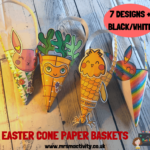 Easter cone paper baskets