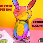 Easter character cone paper toy