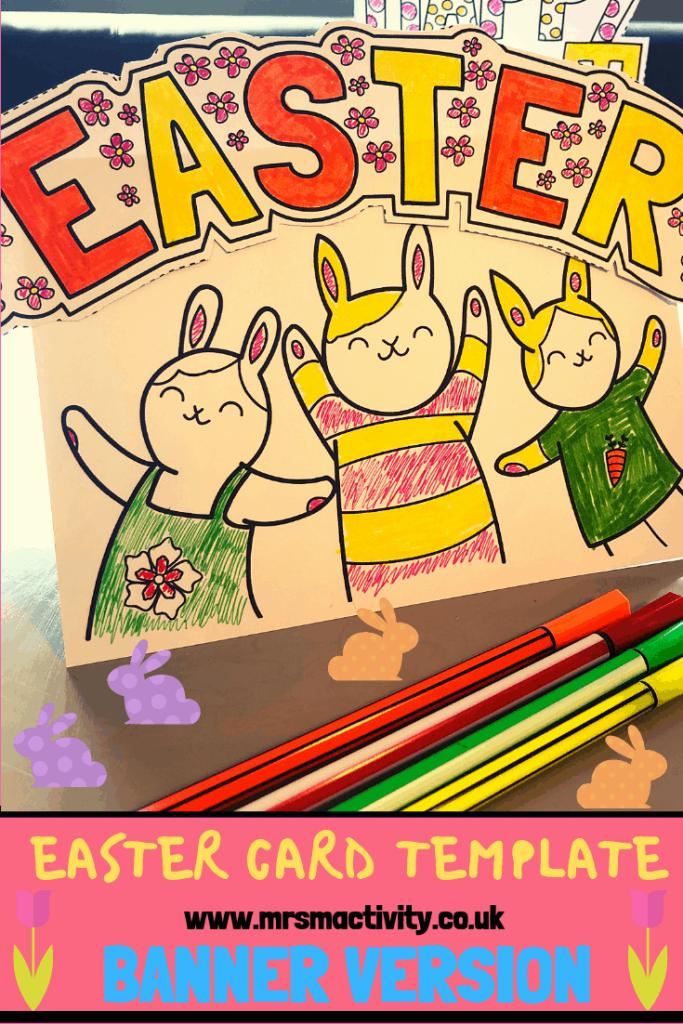 Easter card template eyfs