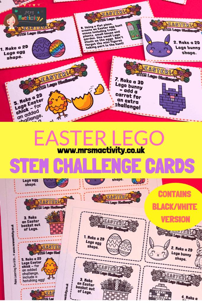 Easter Lego Stem Challenge Cards
