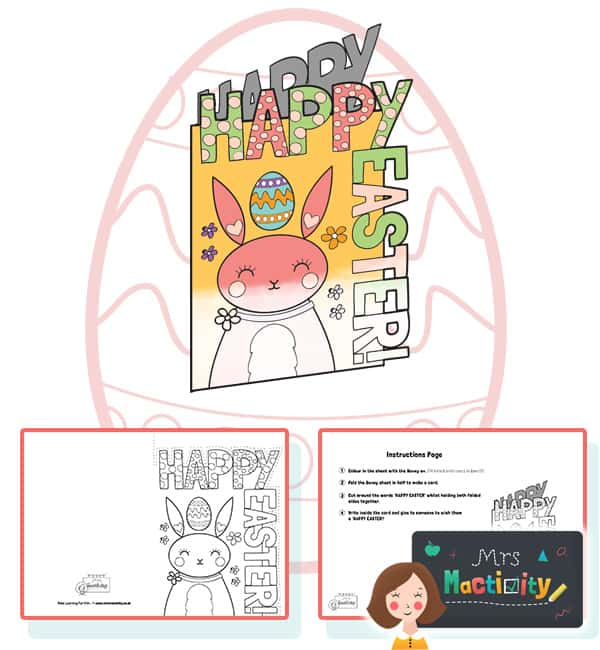 website preview Easter cut out card