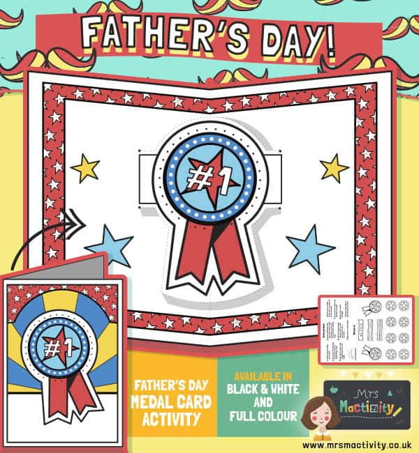 Father's Day Medal Craft Card