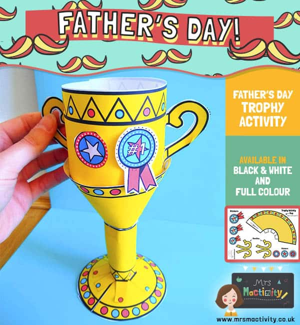 Father's Day trophy craft template
