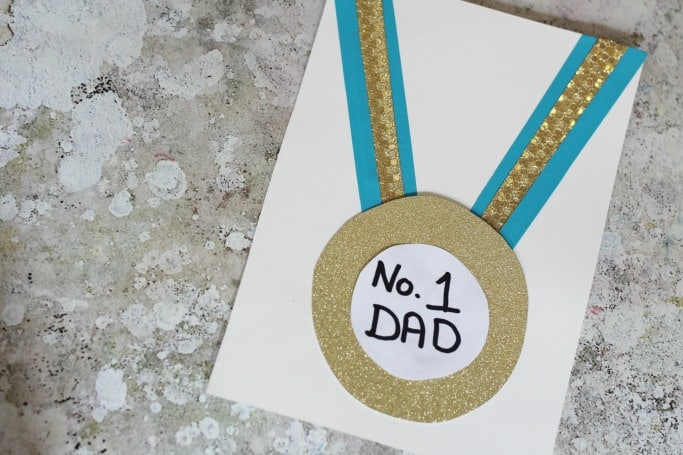 Medal Father's Day card idea