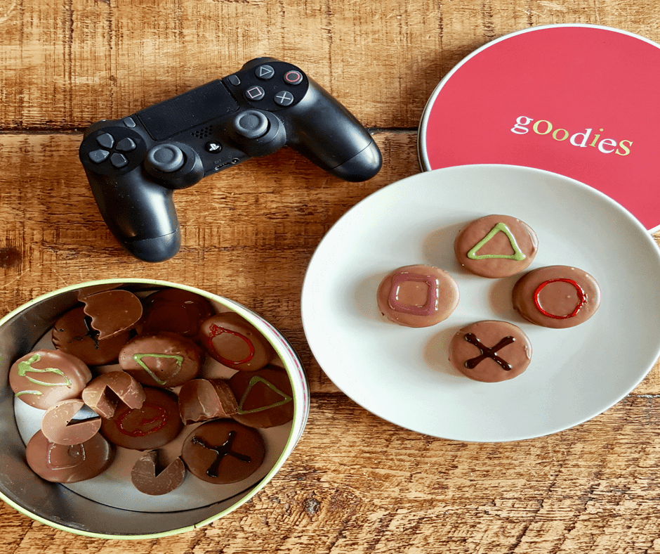 Father's Day playstation biscuits
