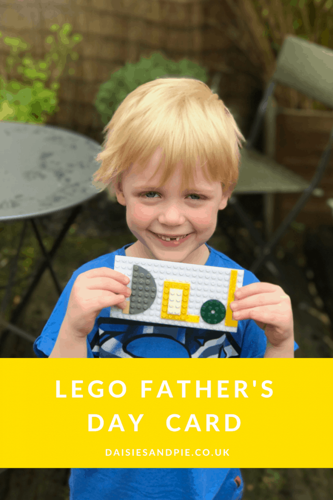 Home made lego fathers day card
