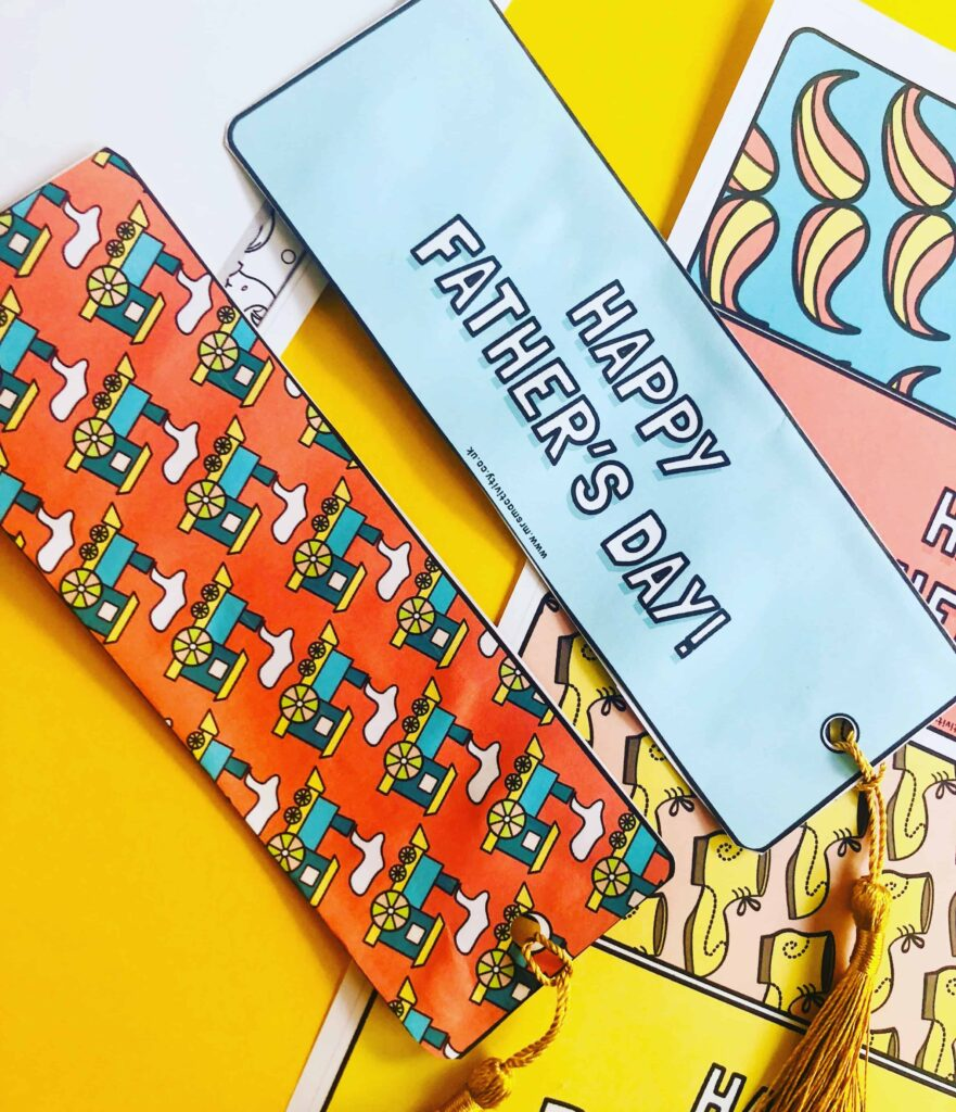 Father's Day printable bookmarks