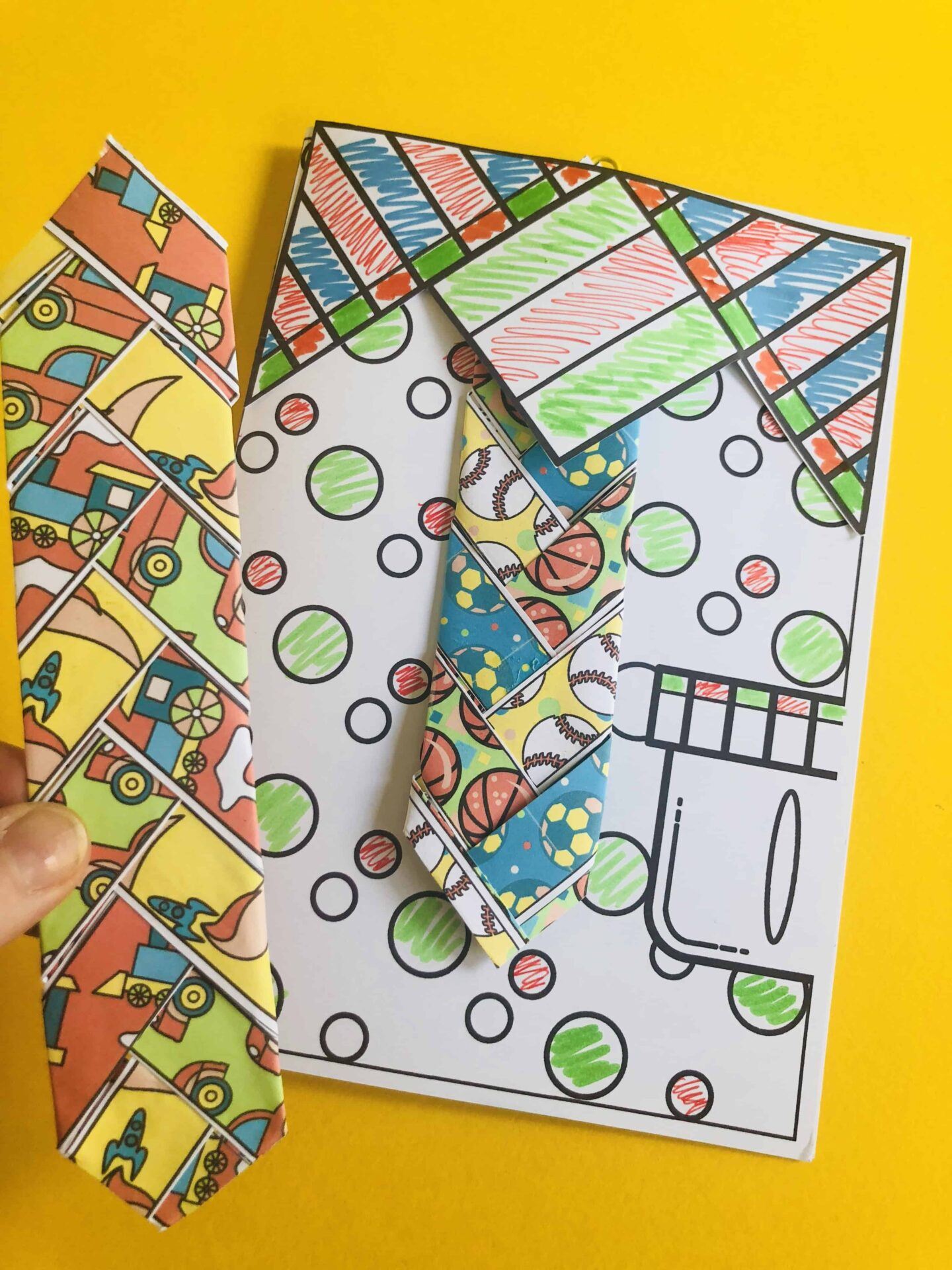 Father's Day tie weave craft card