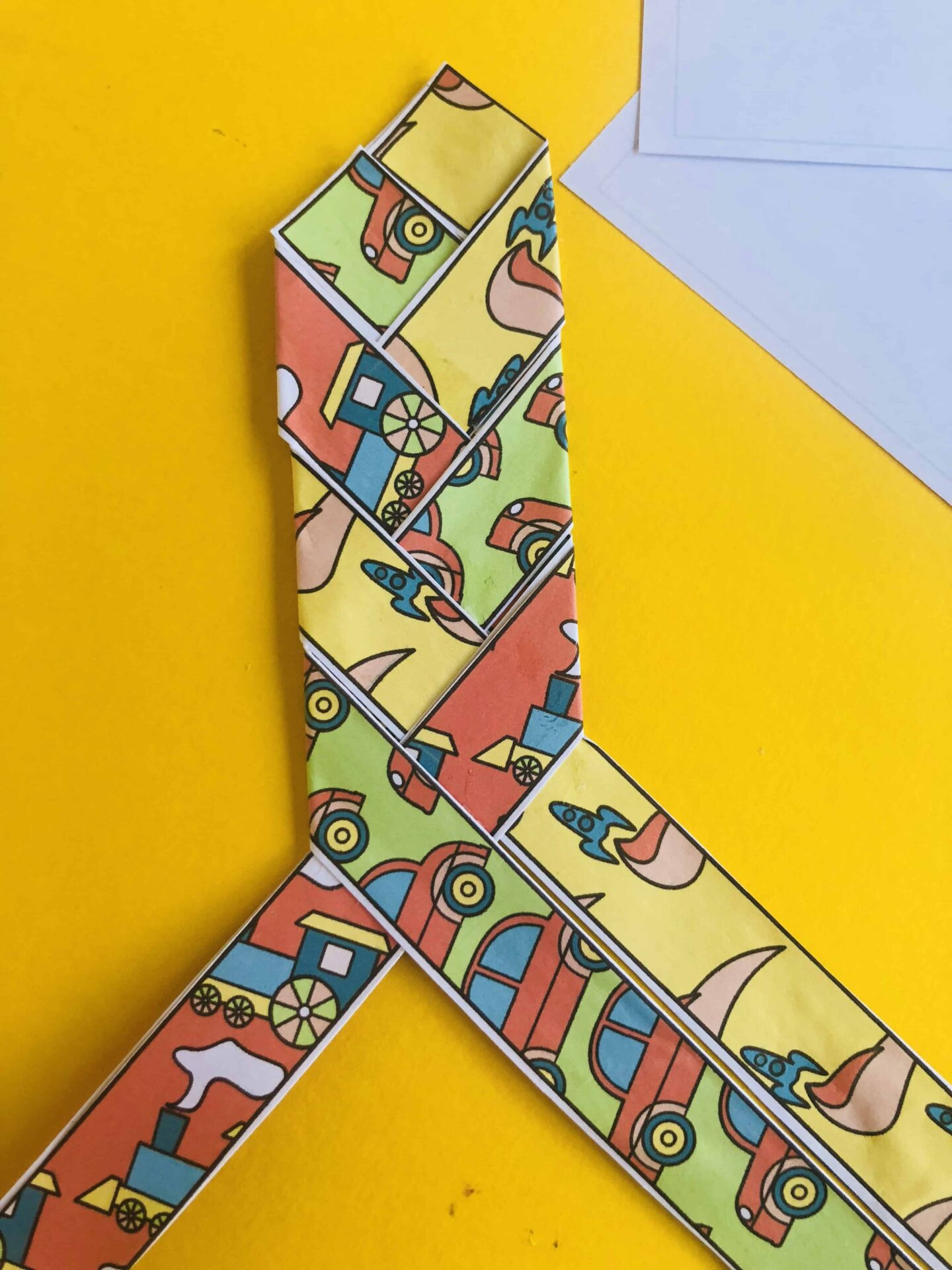 Father's Day tie weave card