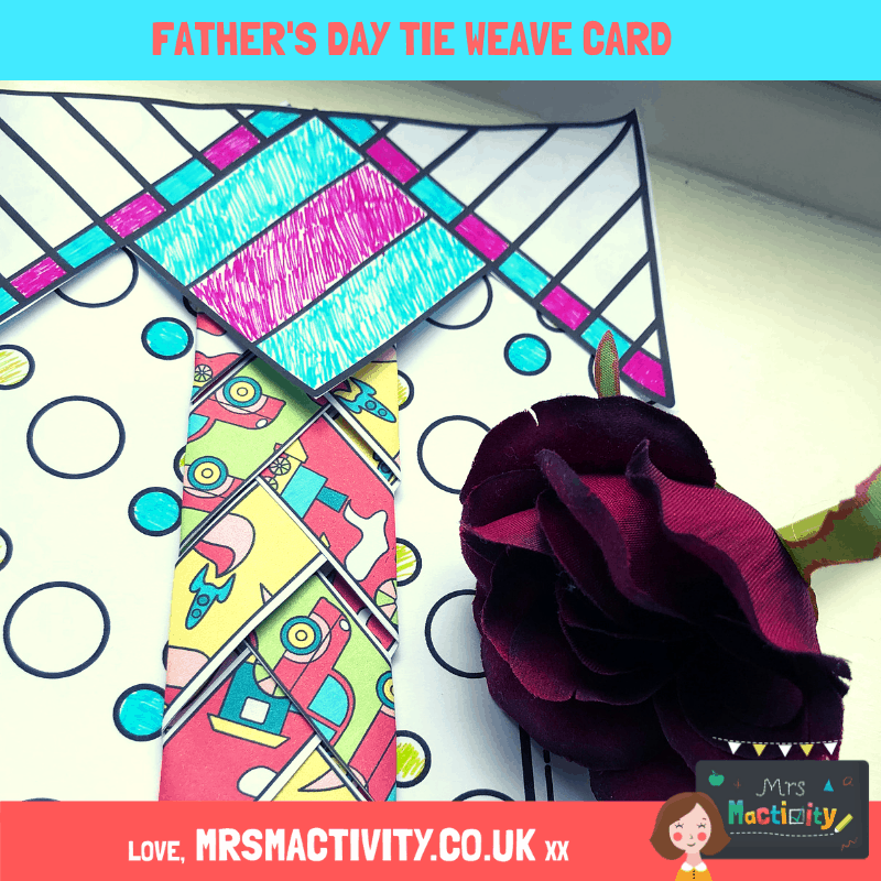 Father's Day weave tie card