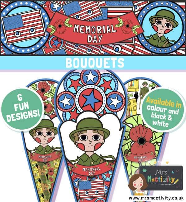 Memorial Day Paper Craft Bouquet