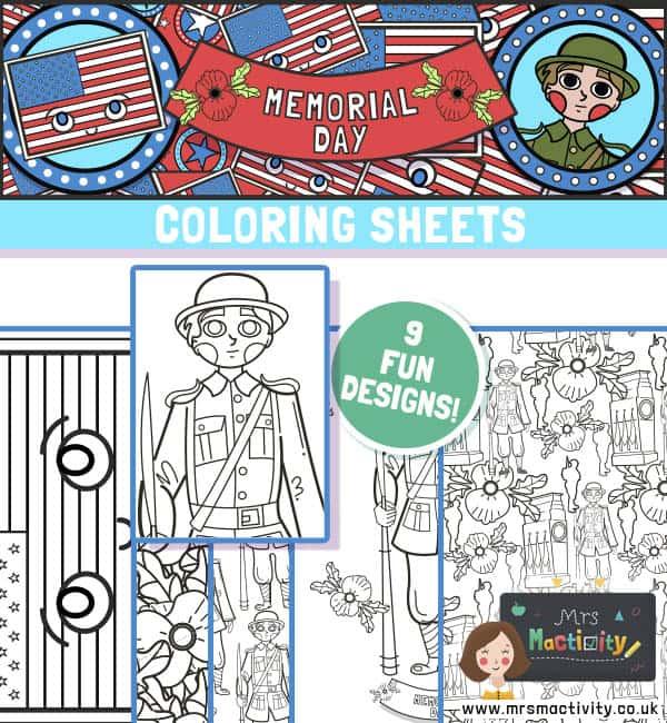 Memorial Day Coloring Sheets