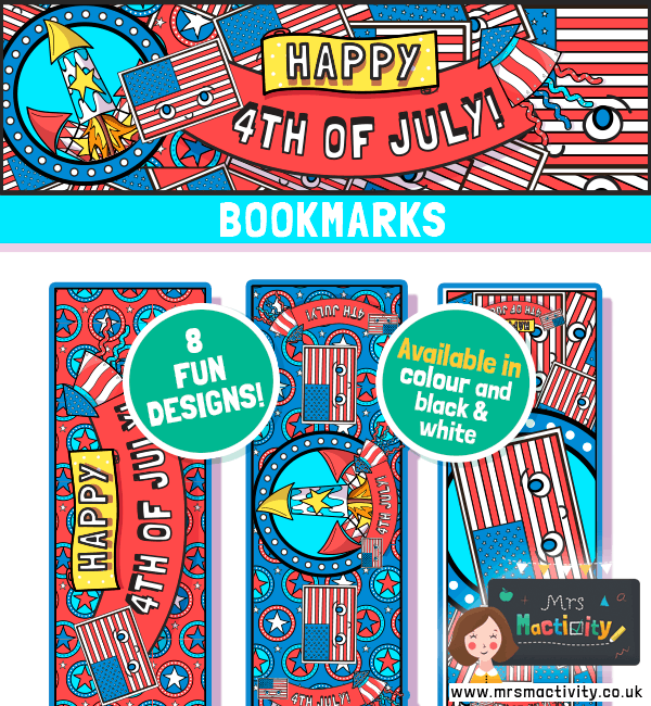 4th July Bookmarks