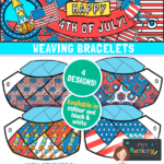 4th July friendship bracelet template
