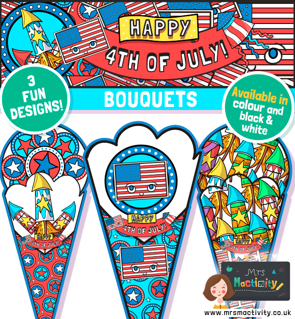 4th July paper crafts