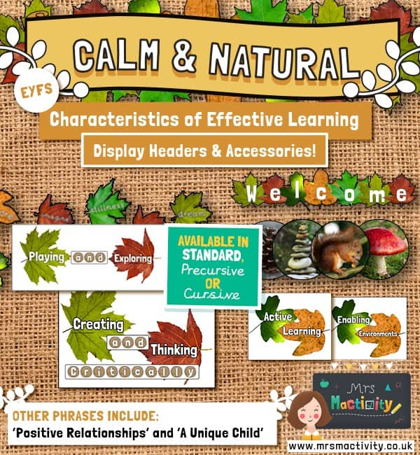 Characteristics of effective learning hessian display pack