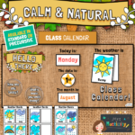 Calm and Natural Class Calendar Display Pack