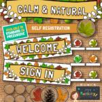 Calm and Natural Self Registration Display Pack