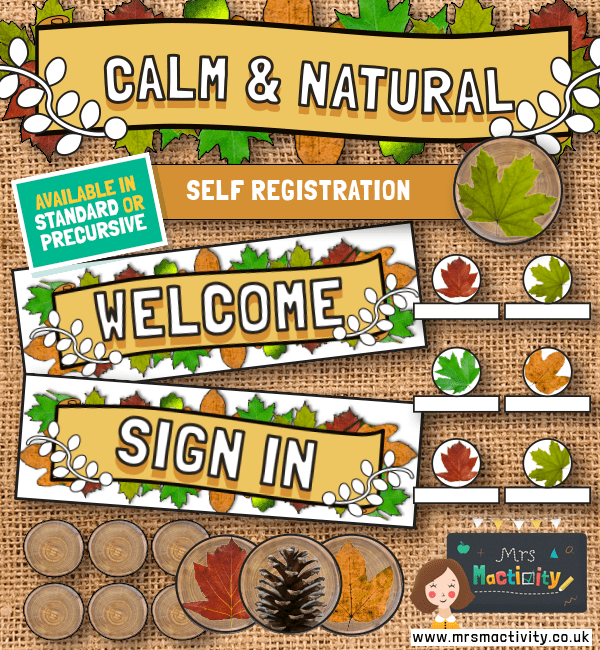 Calm and Natural Self Registration Display Pack