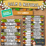 Calm and natural tray labels
