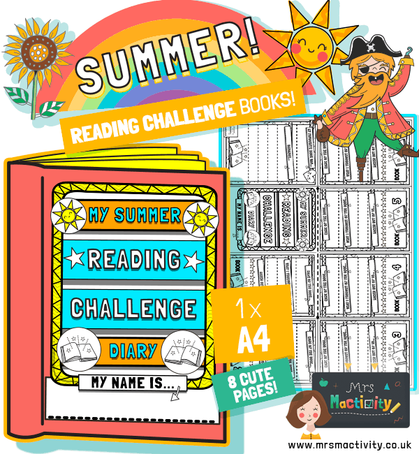 Summer reading challenge diary