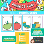 Phase 2 phonics picture cards
