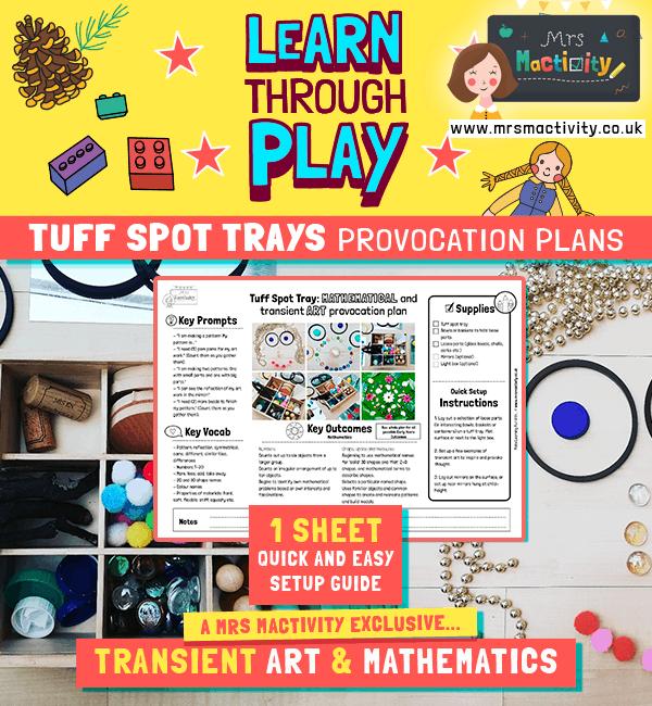 Tuff Spot Tray Transient Art Provocation - Short Plan
