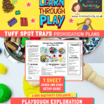 Tuff Spot Tray playdough provocation