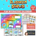 Rainbow class calendar and weather chart