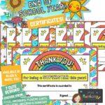 website preview END OF SCHOOL certificates Superstar