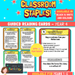 Year 4 Guided Reading Challenge Task Cards