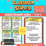 Year 2 Guided Reading Challenge Task Cards