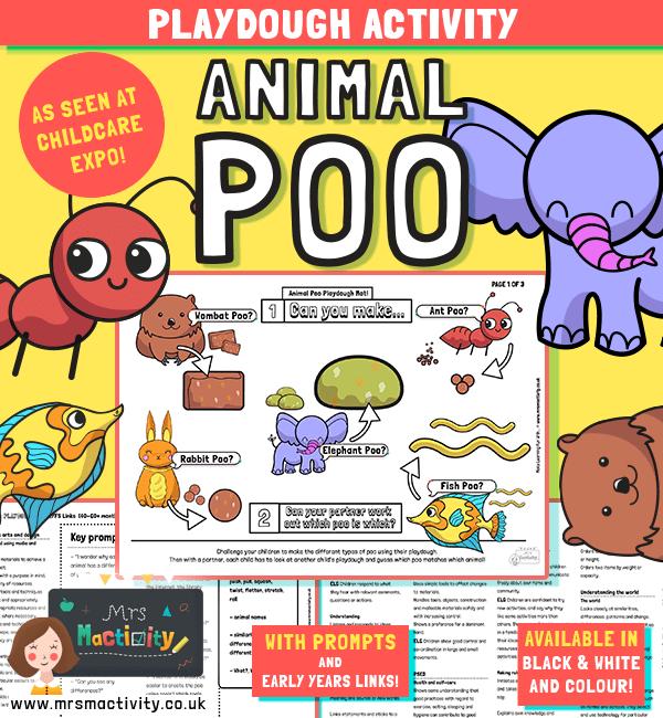 Animal poo activity early years