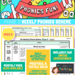 website preview Phonics Scheme Phase 2 Week 2