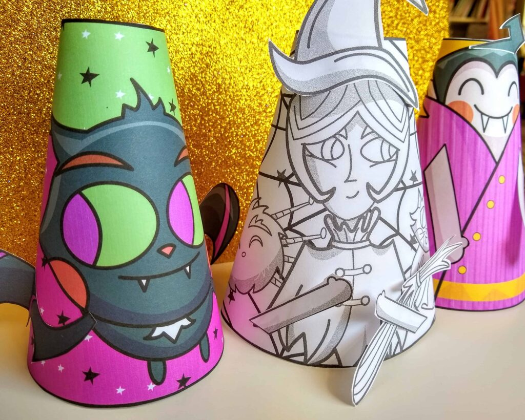 Halloween paper cone craft
