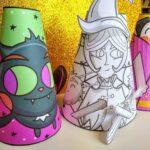 Halloween paper cone craft