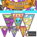 Halloween bunting printable
