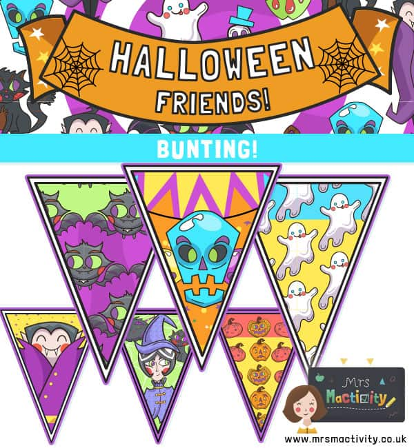 Halloween bunting printable