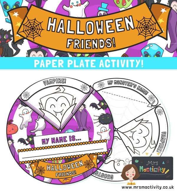 Halloween Paper Plate Craft Activity