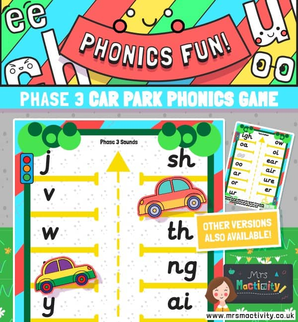 Phase 3 phonics car park game