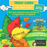 English Tricky words cards Leaves