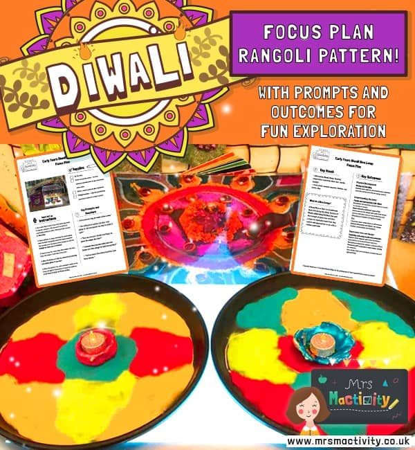 Diwali Rangoli Pattern Focus Early Years Activity